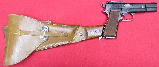 Browning FN 9 mm Mk I (в варианте № 1 Mk I *) с примкнутым прикладом