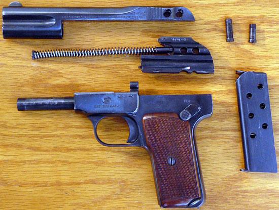 FN Browning M 1900 неполная разборка