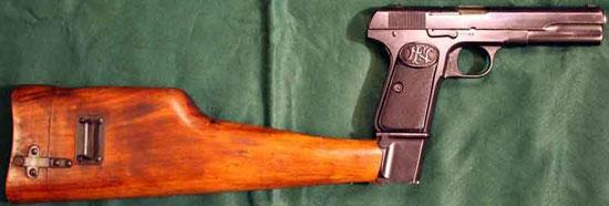 FN Browning M 1903 с примкнутой кобурой-прикладом