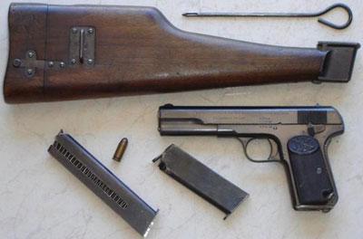 FN Browning M 1903 с кобурой прикладом и магазинами различной емкости