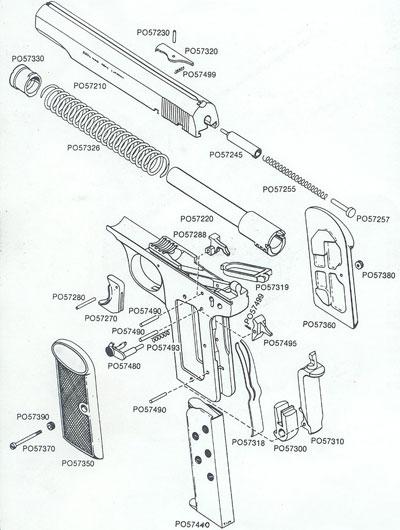 FN Browning M 1910 взрыв-схема