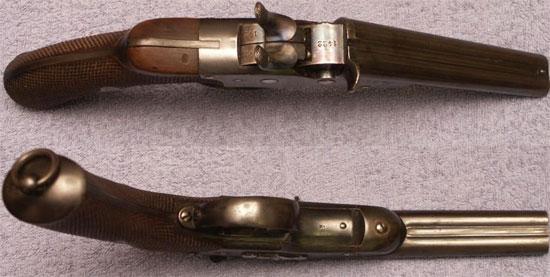 Nagant M 1877 вид сверху и снизу