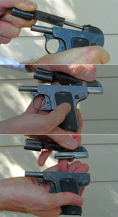 неполная разборка пистолета Melior калибра 6.35 мм