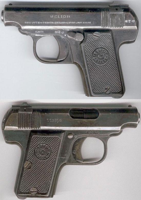 Melior New Model калибра 6.35 мм (образца 1927 года) без рамочного предохранителя