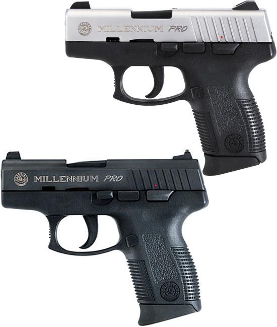 Taurus Millennium Pro (2-ое поколение) PT 111SSP (сверху) и PT 138BP (снизу)