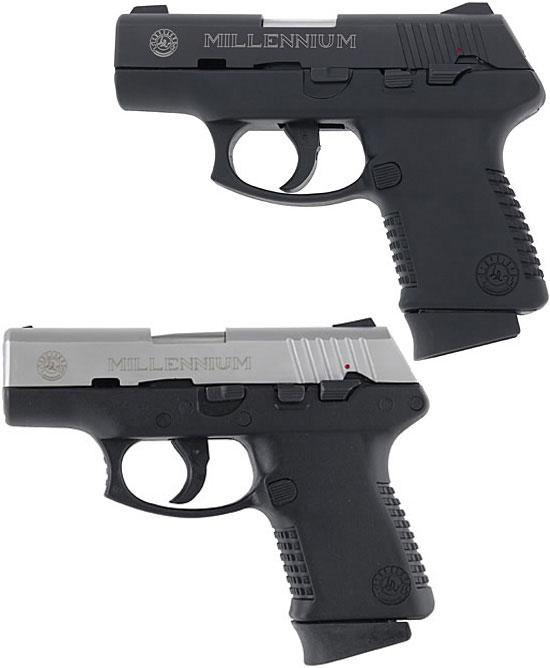 Taurus Millennium (1-ое поколение) PT 111B (сверху) и PT 138SS (снизу)