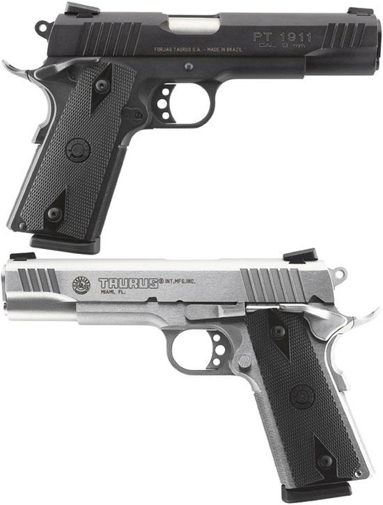Taurus PT 1911B (сверху) и PT 1911SS (снизу) под патрон 9x19 mm Parabellum