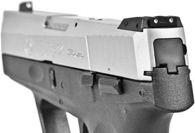 вид на прицельные приспособления и элементы управления пистолетов Taurus серии Slim