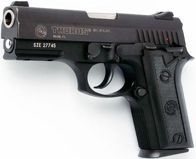 Taurus PT 940 образца 2005 года (с направляющими в передней части рамки)