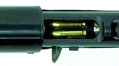 вид на окно заряжания и выбрасывания гильз Model-1