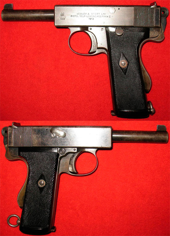 Webley & Scott Pistol self-loading .455 Mark I Navy (Webley & Scott Mk. I N)