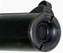 Вид на спуск и дульный срез «Sleeve Gun»