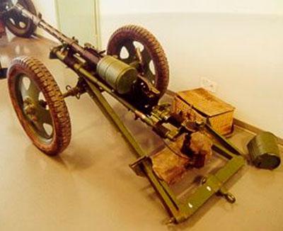 Madsen 1935 (в варианте автоматической пушки) на колесном лафете