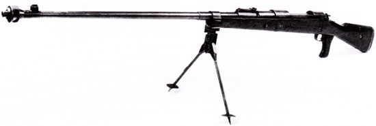 Советская копия ПТР Mauser T-Gewehr M 1918, выпущенная в 1941 году