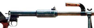 Вид на затвор и крепления ручки для переноски и сошек ПТРД