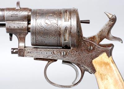 Gasser M1870 вид на разъемную рамку револьвера