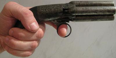 Mariette Brevete Pepperbox с 4 стволами общая длина - 180 мм, длина ствола - 60 мм, калибр 9 мм
