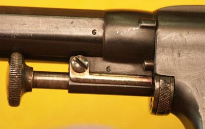 вид на шток-выбрасыватель гильз Nagant M 1878