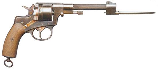 Nagant M 1884 Luxemburg Gendarme с установленным штыком