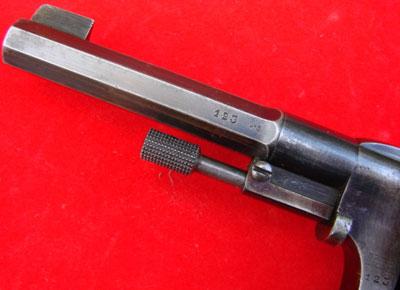 Nagant M 1887 вид на ствол, шток-выбрасыватель и мушку