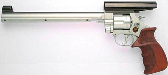 Arminius HW 9ST для стрельбы по мишеням, снабженный стволом 254 мм (273 мм) и закрытыми прицелом с целиком