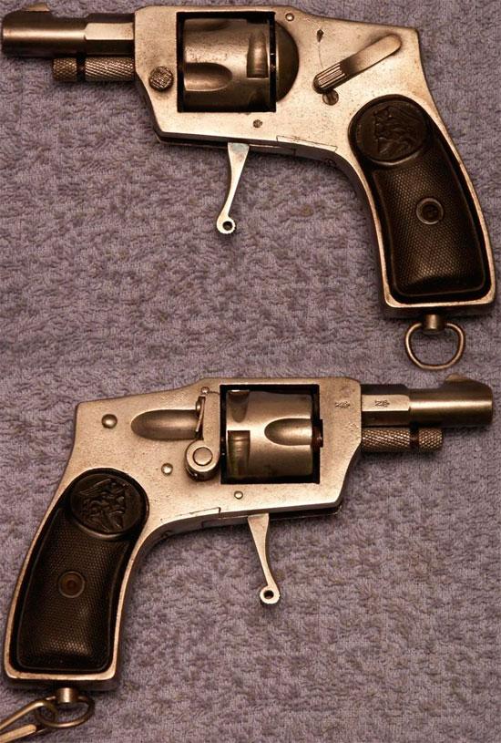 Arminius Model 3 калибра 6.35 мм со скрытым курком и складным спусковым крючком