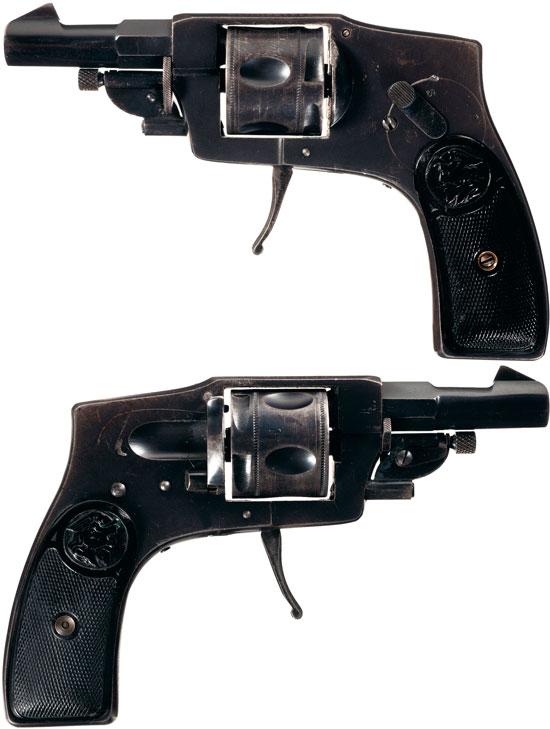 Arminius калибра 7.65 мм со скрытым курком и складным спусковым крючком