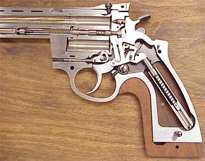 Револьвер Korth в разрезе