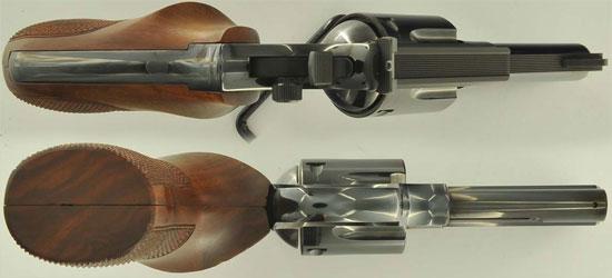 Korth Combat со стволом 76 мм (вид сверху и снизу)