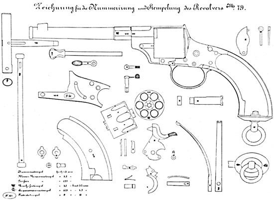 Схема деталей Reichsrevolver M