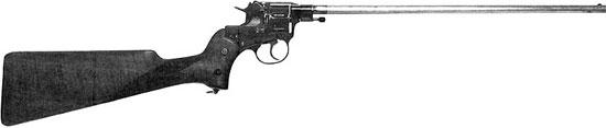 Револьвер-карабин для пограничной стражи, изготовленный на базе револьвера Наган обр 1895 г