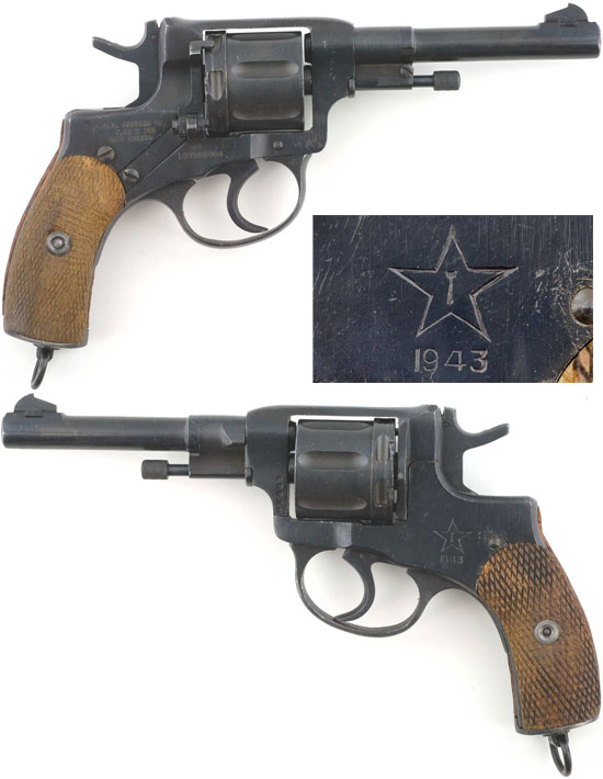 Наган обр 1895 года, производившийся в Туле во время Великой Отечественной войны