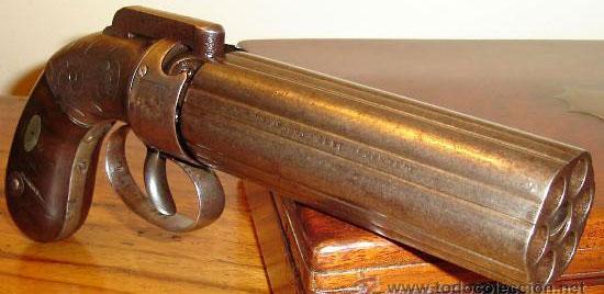 Allen & Thurber Dragoon Pepperbox Norwich калибра .36 производимый в первой половине 1840-х годов