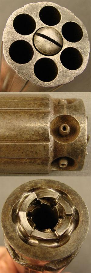 Allen & Thurber pepperbox вид на блок стволов спереди, сбоку и сзади