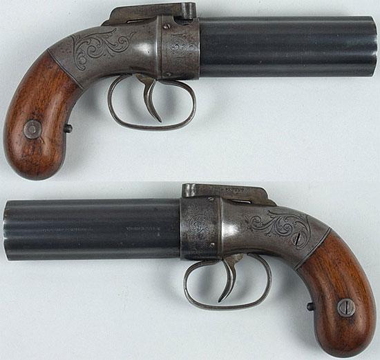 Allen & Thurber pepperbox (Worcester) калибра .31 и с длиной ствола 100 мм