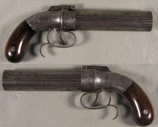 Allen & Thurber pepperbox калибр .36, длина ствола 152, общая длина оружия 260 мм