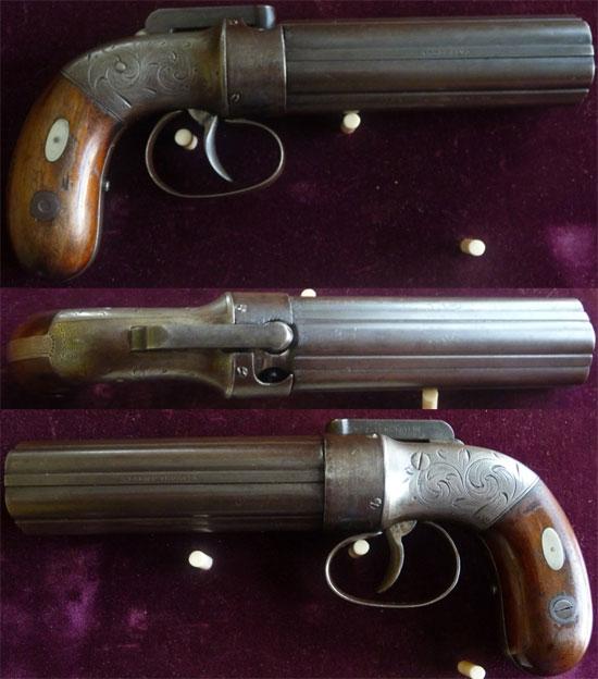 Allen & Thurber pepperbox с длиной ствола 100 мм образца 1837 года