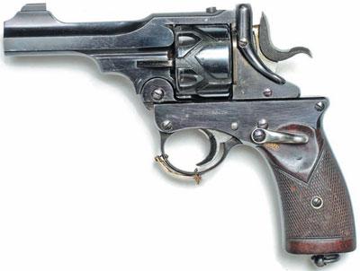 Webley-Fosbery с длиной ствола 4 дюйма (100 мм) образца 1914 года