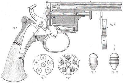 Adams M 1851 (устройство револьвера)