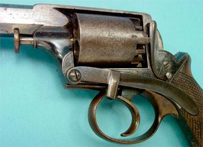 Adams M 1851 образца 1854 года (вид на шомпол для утрамбовки зарядов в каморы барабана)