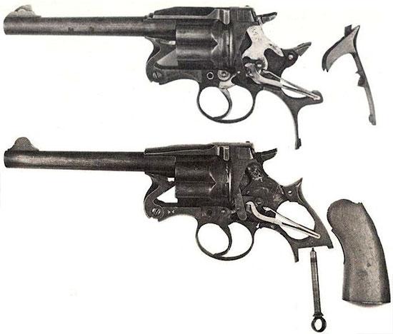 Enfield Mk I (сверху) и Enfield Mk II (снизу)