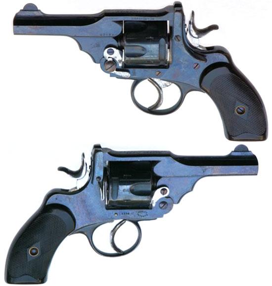 Webley Mk III caliber .38 образца 1897 года (Webley Mk III Pocket Revolver) с курком с гладкой боевой поверхностью и инерционным ударником