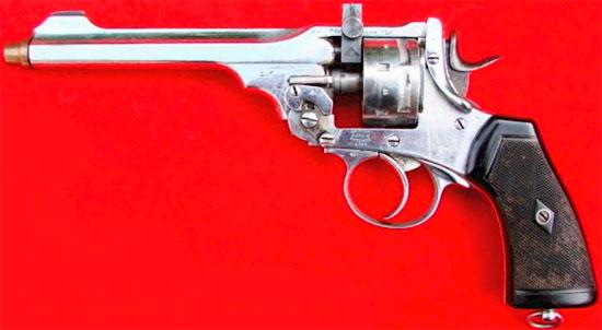 Webley Mk VI .22 Target Revolver с шестизарядным барабаном