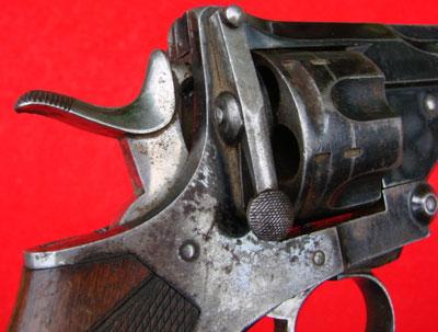 Револьвер модели Webley Pryse (вид на рычаги замыкания)