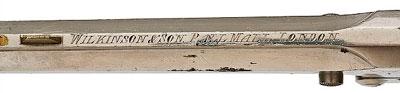 Wilkinson-Webley образца 1884 года (вид на верхнюю планку ствола)