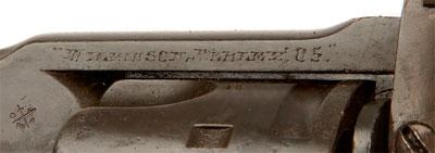 Wilkinson-Webley образца 1911 года (вид на верхнюю планку рамки)