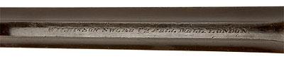 Wilkinson-Webley образца 1911 года (вид на верхнюю планку ствола)