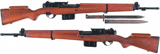 SAFN-49 с отсоединенным оптическим прицелом и штык-ножом