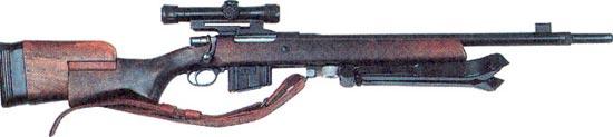 FN 30-11 с ремнем и обратным креплением сошек