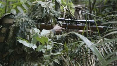 IMBEL .308 AGLC используемая бразильским снайпером